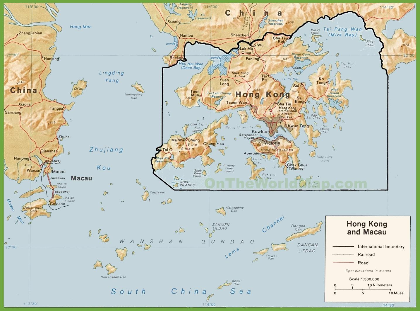 Cartina Hong Kong.Hong Kong Politik Peta Peta Politik Hong Kong China